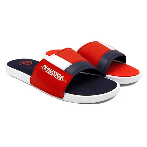 NAUTICA COMPETITION SLIDE IN RED COLORBLOCK - Nautica Red
