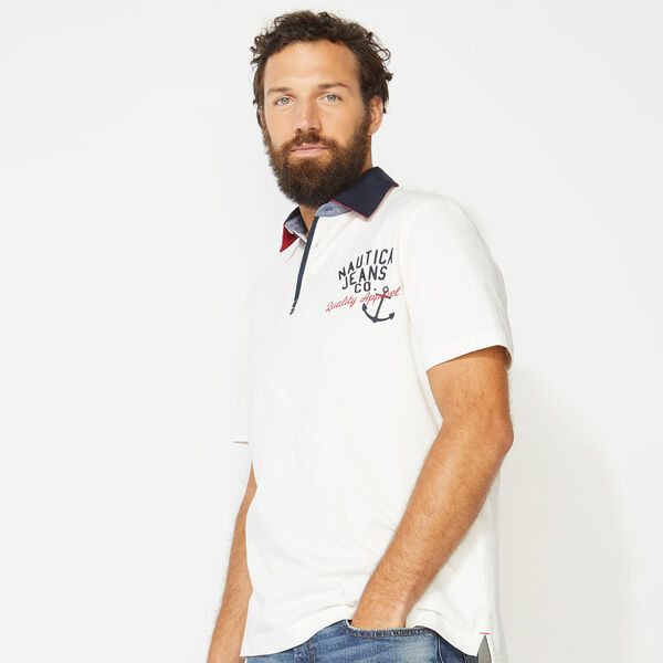 NAUTICA JEANS CO. EMBROIDERED POLO - Sail White