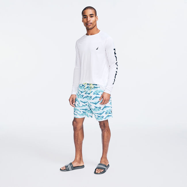 """8"""" SUSTAINABLY CRAFTED WALRUS PRINT SWIM,Bright White,large"""