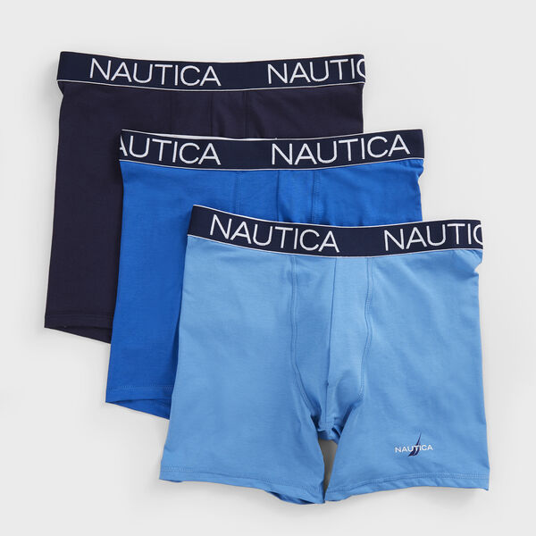 LIMITED EDITION LOGO STRETCH BOXER BRIEFS, 3-PACK - Alaskan Blue
