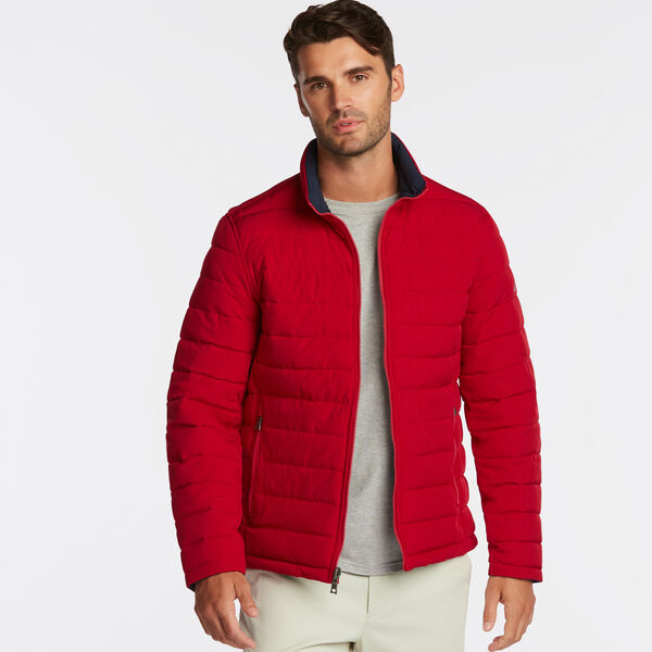 STRETCH REVERSIBLE PUFFER - Nautica Red/Orange