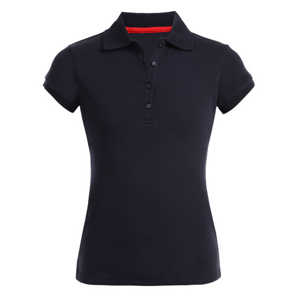 GIRL'S SHORT SLEEVE POLO - Crystal Bay Blue