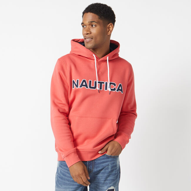 PULLOVER LOGO HOODIE,Sailor Red,large
