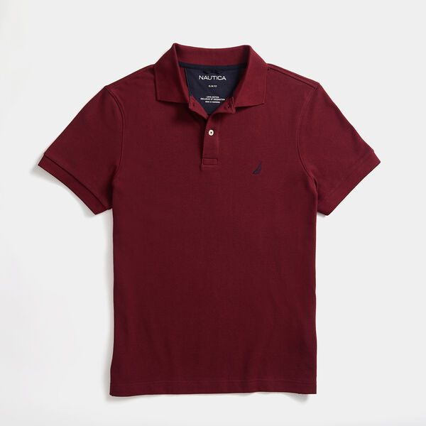 SLIM FIT DECK POLO - Zinfandel