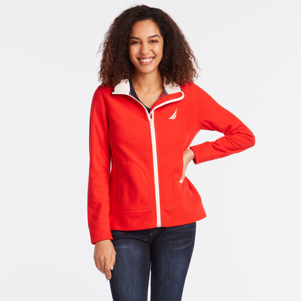 FULL ZIP NAUTEX FLEECE JACKET - Tomales Red