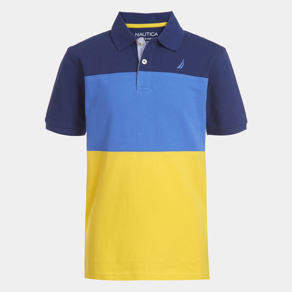 LITTLE BOYS' ODIN COLORBLOCK POLO (4-7) - Marigold