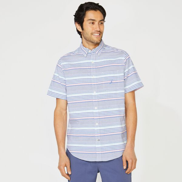 BIG & TALL CLASSIC FIT STRIPE SEERSUCKER SHIRT - Star Sapphire