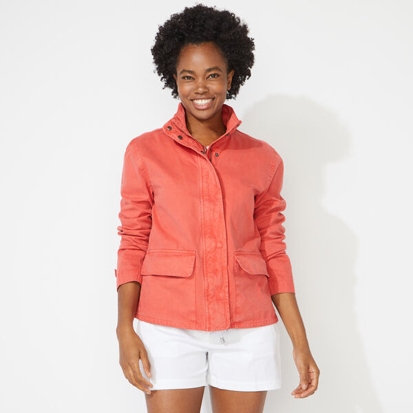 NAUTICA JEANS CO. A-LINE JACKET - Crimson