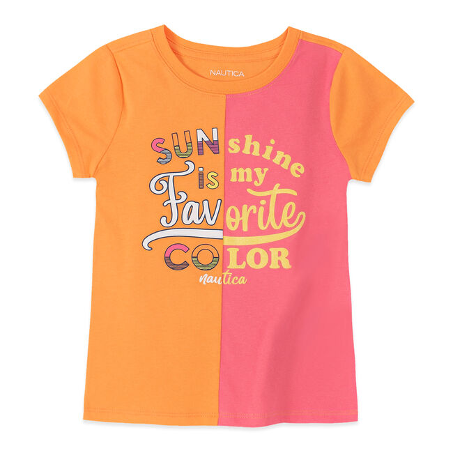 LITTLE GIRLS' TWO TONED GRAPHIC TEE (4-7),Life Vest Wintl,large