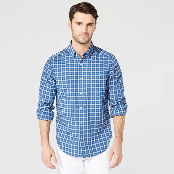 CLASSIC FIT PLAID BUTTON-DOWN SHIRT - Limoges