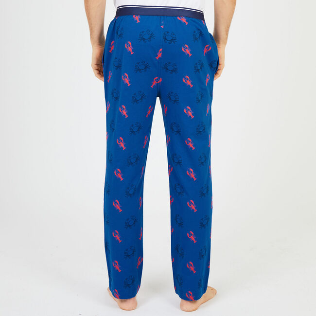 Crab + Lobster Jersey Pajama Pants,Monaco Blue,large