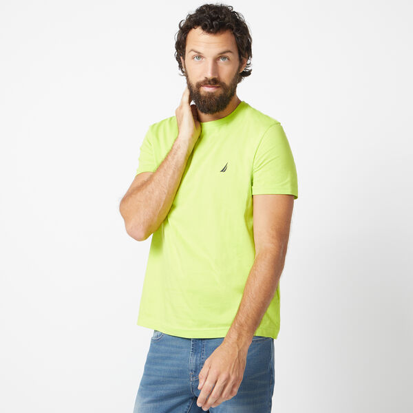 SOLID SHORT SLEEVE CREWNECK T-SHIRT - Tropic Lime