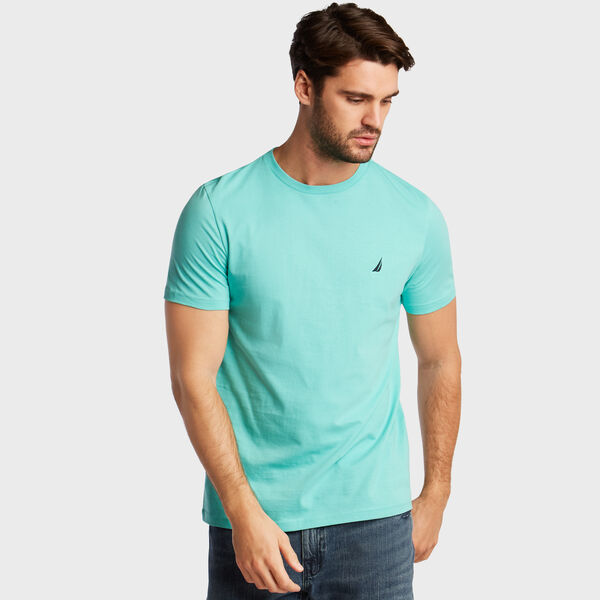 Solid Short Sleeve Crewneck T-Shirt - Poolside Aqua