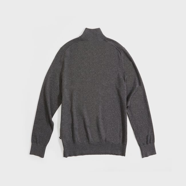 NAVTECH QUARTER-ZIP SWEATER,Charcoal Heather,large