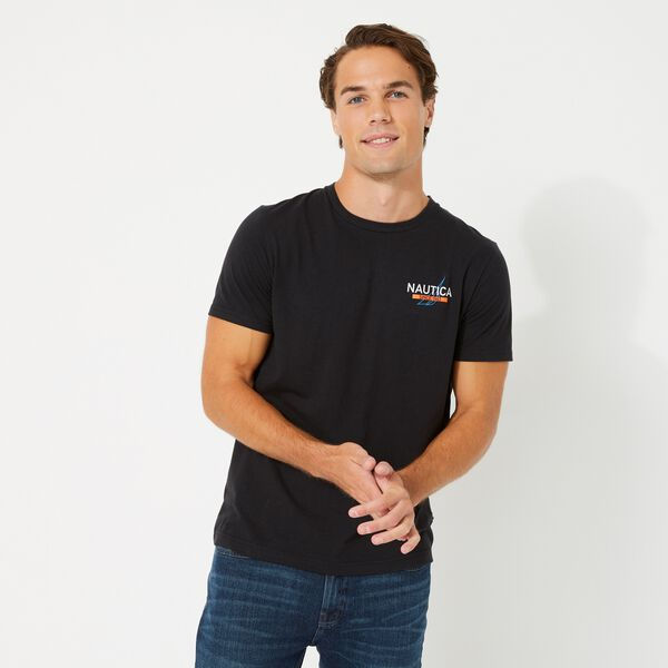 SUSTAINABLY CRAFTED NAUTICA 83 GRAPHIC T-SHIRT - True Black