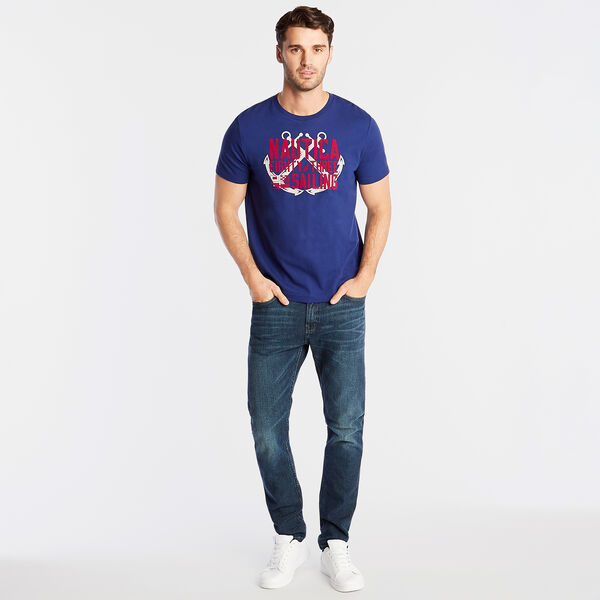 JERSEY T-SHIRT IN EIGHTY THREE GRAPHIC - Blue Depths