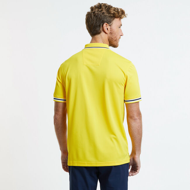SHORT SLEEVE PERFORMANCE POLO IN CLASSIC FIT,Shoreline Yellow,large