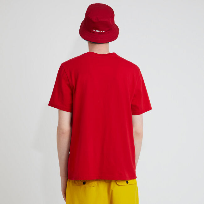 The Lil Yachty Collection by Nautica Big & Tall  Spinnaker Graphic T-Shirt,Nautica Red,large
