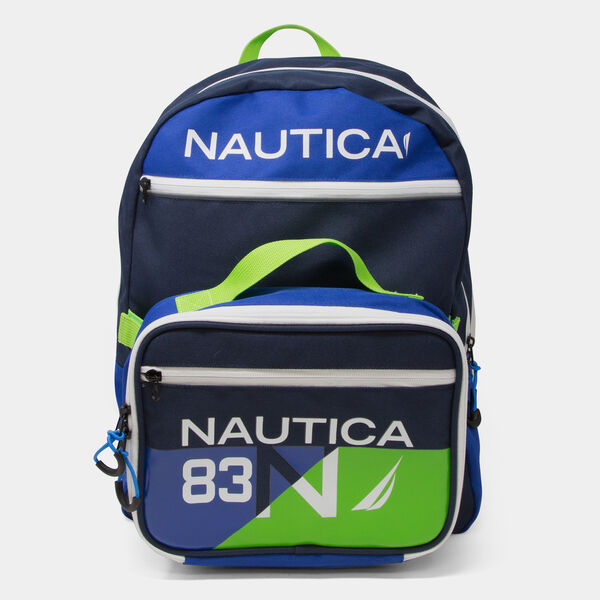 COLORBLOCK LOGO BACKPACK WITH LUNCH BAG - Snow Heather