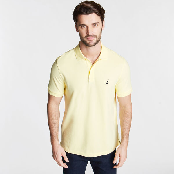 Classic Fit Mesh Polo - Light Mimosa