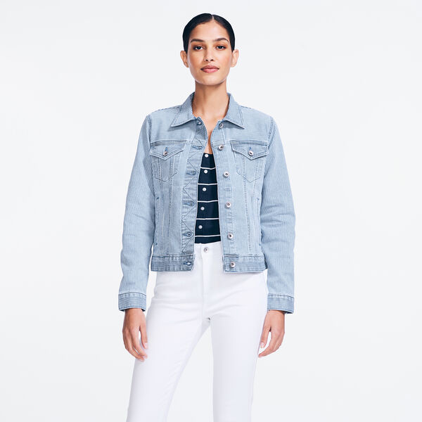 NAUTICA JEANS CO. STRIPED DENIM JACKET - Breeze