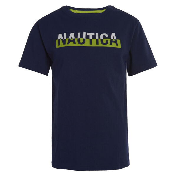 BOYS' GREG LOGO GRAPHIC TEE (8-20) - J Navy