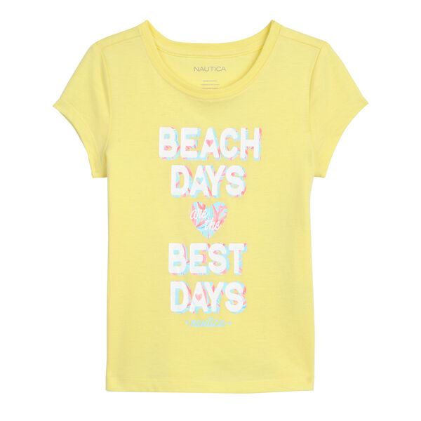 GIRLS' T-SHIRT IN BEACH DAYS GRAPHIC - Lemonade