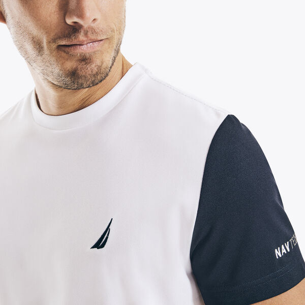 NAVTECH COLORBLOCK T-SHIRT - Bright White