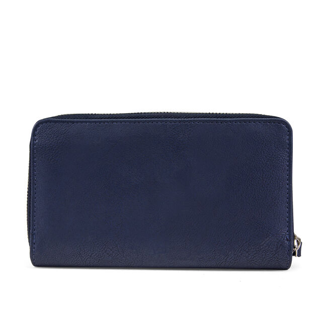 Wristlet With Removable Pouch - Indigo,Navy,large