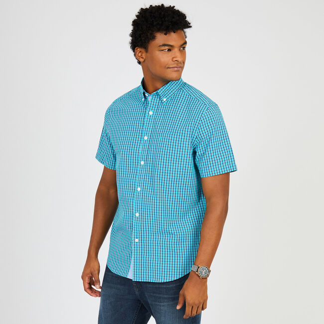 Everyday Mini Plaid Classic Fit Button Down,Cosmic Cobalt,large
