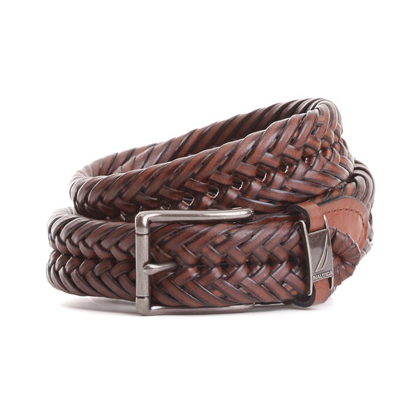 Big & Tall Basketweave Belt - Brown