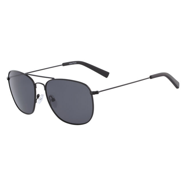 Navigator Sunglasses with Matte Frame,Black Onyx,large