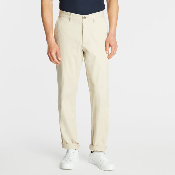 Classic Fit Flat Front Pant - True Stone