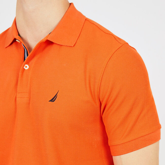Classic Fit Performance Mesh Polo,Rustic Sunset,large