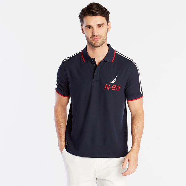 CLASSIC FIT PERFORMANCE POLO,Pure Dark Pacific Wash,large
