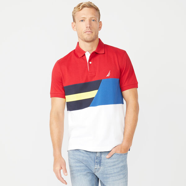 CLASSIC FIT COLORBLOCK POLO - Nautica Red