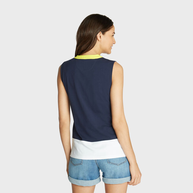 ARTIST SERIES SLEEVELESS TOP,Stellar Blue Heather,large