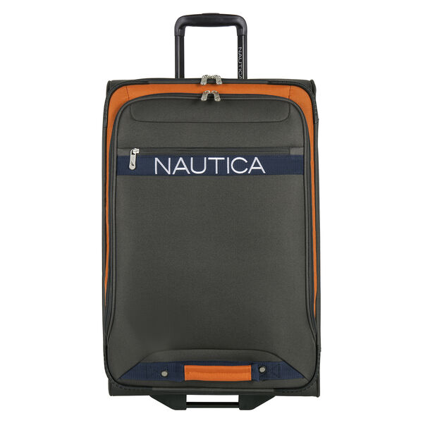 "Hayes Point 25"" Expandable Luggage in Grey/Orange - Grey Heather"