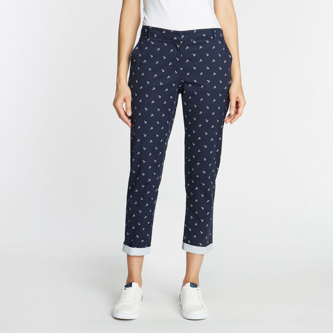 CLASSIC FIT CHINO PANT IN ANCHOR EMBROIDERY,Stellar Blue Heather,large