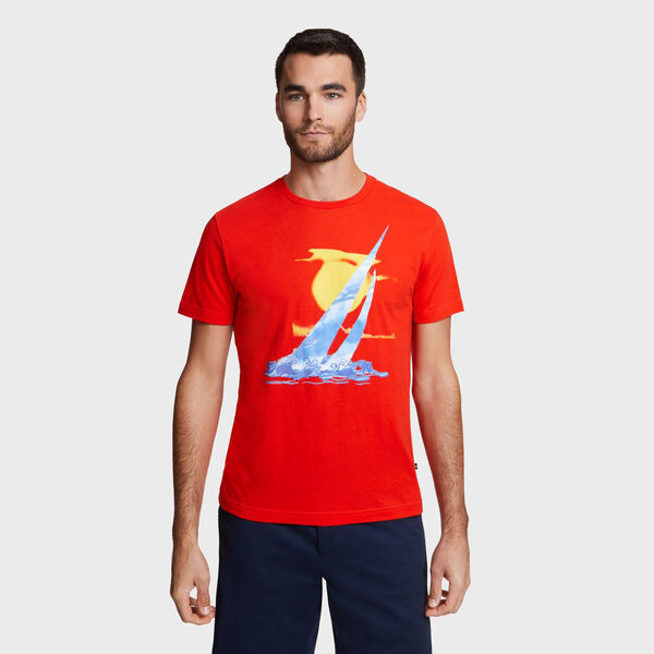 Artist Series J-Class + Waves T-Shirt - Firey Red