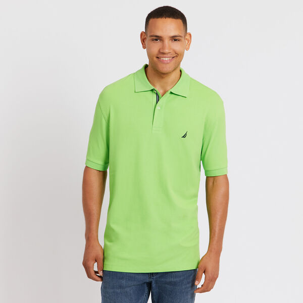BIG & TALL STRETCH MESH POLO - Lime Surf