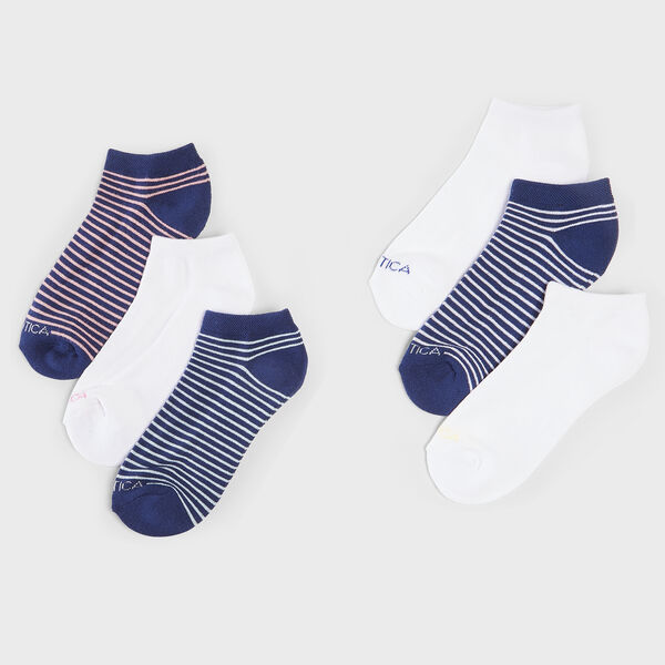 STRIPE LOW CUT SOCKS, 6-PACK - Multi