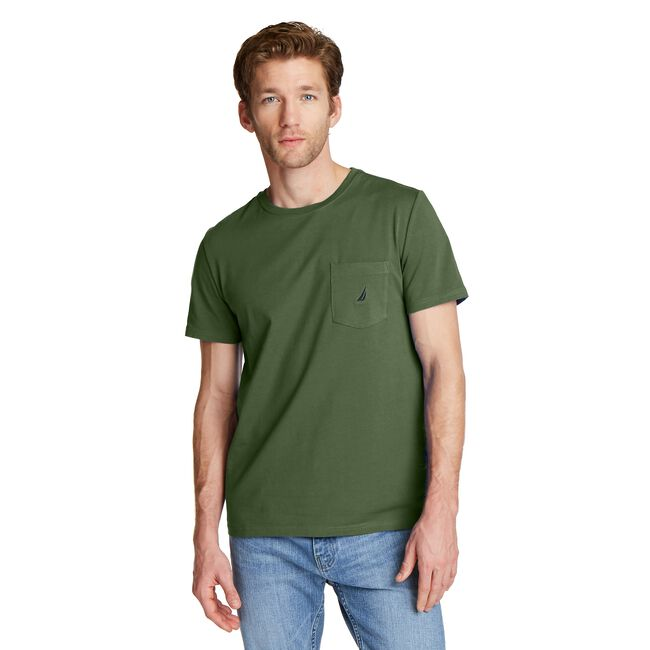 J-CLASS POCKET T-SHIRT,Pineforest,large