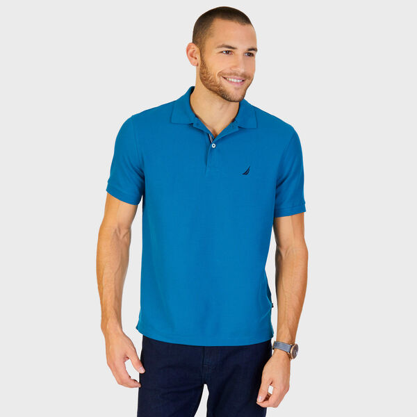 Short Sleeve Performance Deck Polo Shirt  - Sea Mist