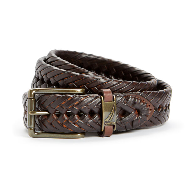 Big & Tall Basketweave Casual Belt - True Khaki