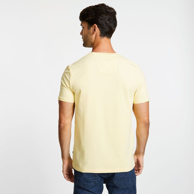 Short Sleeve Crewneck Pocket T-Shirt,French Vanilla,large