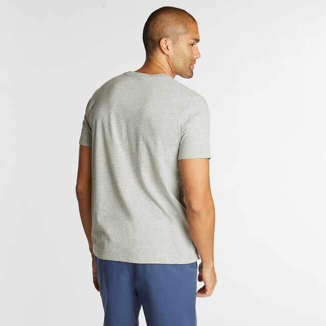 JERSEY T-SHIRT IN NAUTICA J-CLASS GRAPHIC,Grey Heather,large
