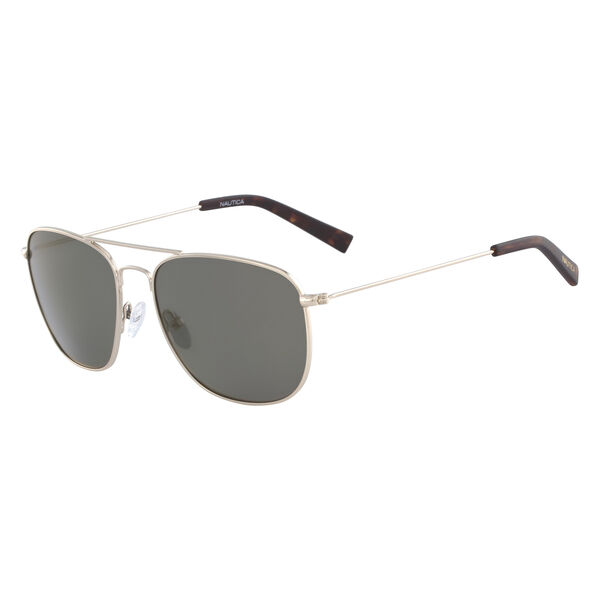 Navigator Sunglasses with Gold Frame - Sun Haze