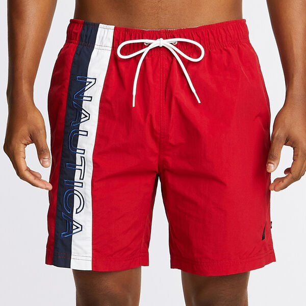"8"" SURFWASH SWIM TRUNK IN COLORBLOCK - Nautica Red"