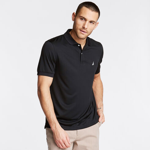 Short Sleeve Classic Fit Performance Polo - True Black